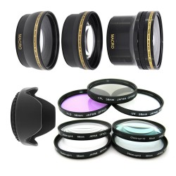 Kit 58MM UV CPL FLD + Macro + Fish Eye + Telephoto