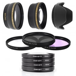 Kit UV CPL FLD Close-Up Grand Angle Telephoto