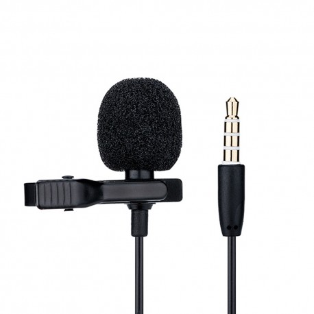 Microphone Lavalier - Cravate pour Smartphones ou Tablets HQ