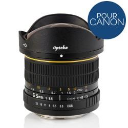 Objectif Opteka Fish Eye 6.5mm f/3.5 pour Canon DSLR