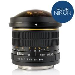 Objectif Opteka Fish Eye 6.5mm f/3.5 pour NIKON DSLR