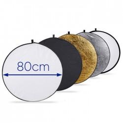 Réflecteur 5-en-1 Portable pour Studio 80CM / 32 pouces